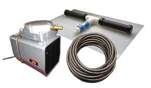Pond Aeration System - 1/8 HP Kit with Weighted Tubing