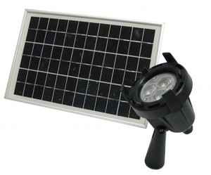 Solar High Intensity LED Light with Solar Panel