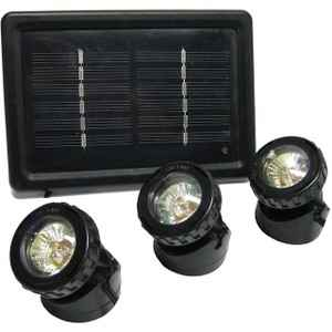 Solar High Intensity LED Light with Solar Panel - 3 Pack